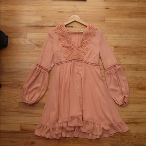 Pink mini dress by Nasty Gal